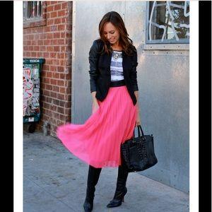 H&M  Cerise Pleated Skirt